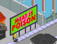 Lisa Hacking Meat Propaganda Billboard