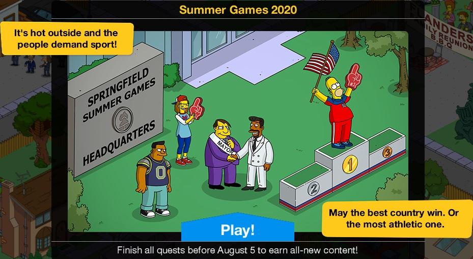 Summer Games 2020 Event