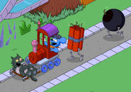 Parade Train with Dynamite Bundle and Bomb