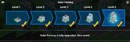 Valet Parking Upgrade Menu Screen
