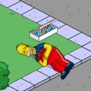 Patriotic Homer Eating Patriotic Donuts (2)