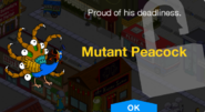 Tapped Out Mutant Peacock Unlock