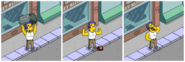 Muscular Milhouse Going on a Rampage (2)