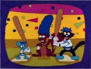 Disapproving Squirrel with Itchy & Scratchy in the show