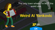 Weird Al Yankovic Unlock Screen