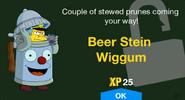 Beer Stein Wiggum unlock screen