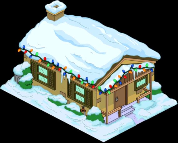 Christmas Brown House