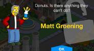 Matt Groening Unlock Screen