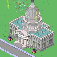 U.S. Capitol Building animation with fireworks