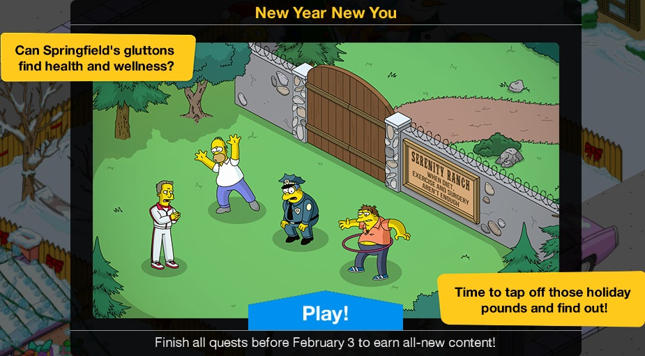 Simpsons Tapped Out Christmas Update 2021 New Year New You 2021 Event The Simpsons Tapped Out Wiki Fandom