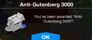 Anti-Gutemberg 3000 Unlock