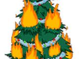 Flaming Christmas Tree