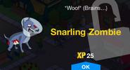 Snarling Zombie Unlock Screen