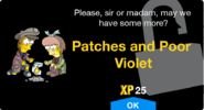 Patches and Poor Violet Unlock Screen