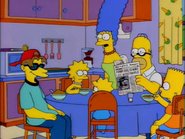 Roy with the Simpsons in the show