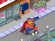 Everyman Practicing Superhero Landing