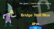 Bridge Troll Moe Unlock Screen