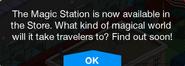Magic Station Promo message