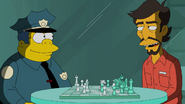 Sven Golly with Wiggum in the show