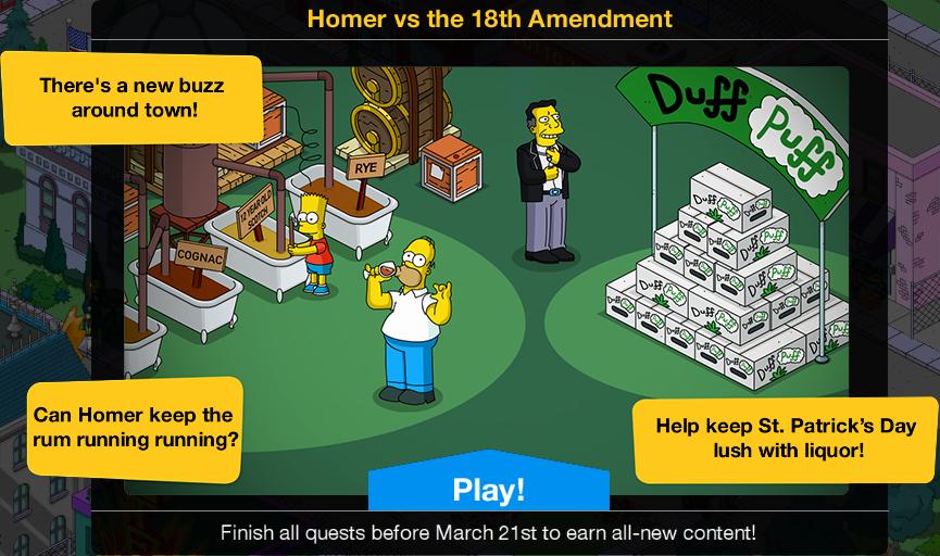 Homer vs the 18th Amendment 2018 Event