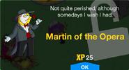 Martin of the Opera Unlock Screen