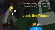 Jack the Ripper Unlock Screen