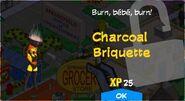 Charcoal Briquette Unlock Screen