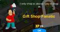 Gift Shop Fanatic Unlock Screen