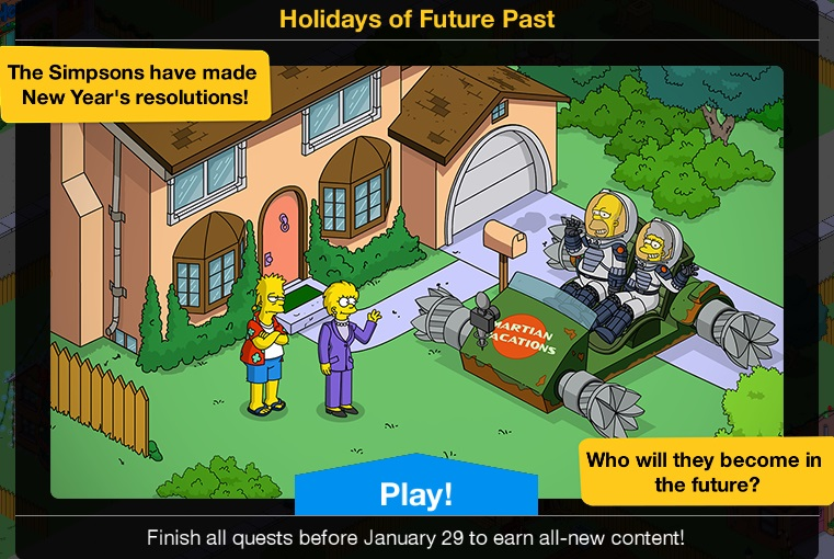Simpsons Tapped Out Christmas Update 2021 Holidays Of Future Past 2020 Event The Simpsons Tapped Out Wiki Fandom