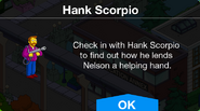 Hank Scorpio and Nelson's quest notification