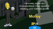 Molloy Unlock Screen