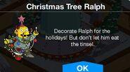 Christmas Tree Ralph notification