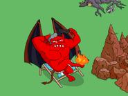 The Devil Enjoying a Breath of Fresh Air - pigeon