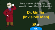 Dr. Griffin (Invisible Man) Unlock Screen