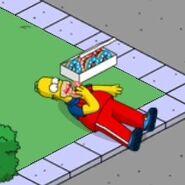 Patriotic Homer Eating Patriotic Donuts (1)