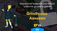 Grindhouse Assassin Unlock Screen