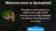 Kitenge is celebrating your return