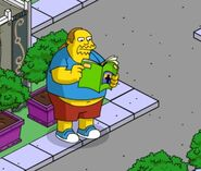 Comic Book Guy reading a comic.