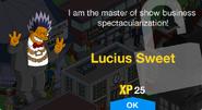 Lucius Sweet Unlock Screen