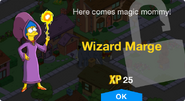 Wizard Marge Unlock Screen