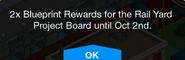 Magic Station Promo Blueprint Rewards message