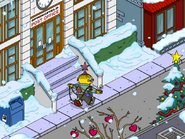 Christmas Tree Ralph Glitter Bombing Himself