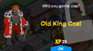 Old King Coal Unlock Screen