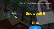 Snowball II Unlock Screen