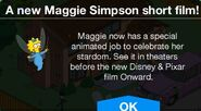 A new Maggie Simpson short film message