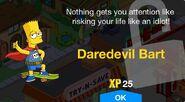 Daredevil Bart Unlock Screen