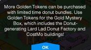 Black Friday 2020 Promotion More Golden Tokens Message