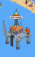 Krusty Burger Oil Rig in the game