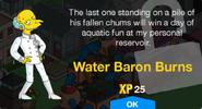 Water Baron Burns Unlock Screen