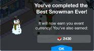 Best Snowman Ever Complete Screen